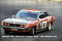 TOYOTA CELICA . Barrie Williams. Photo. Mallory Park RAC Saloons (BTCC) 28 August 1976